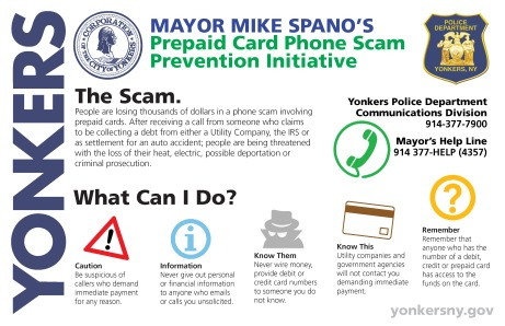 Prepaid Card Phone Scam Prevention Initiative - Poster