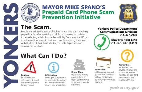 Prepaid Card Phone Scam Prevention Initiative - Poster