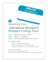 Summer College Fair - Flyer